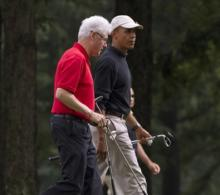 Obama, Bill Clinton Enjoy Round of Golf | CNS News