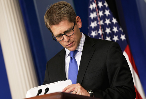 White House Press Secretary Jay Carney Holds Daily Press Briefing