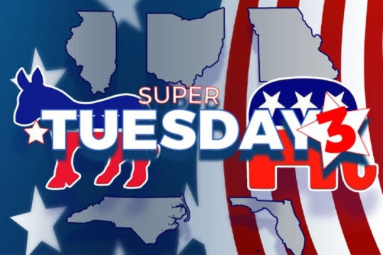 Super Tuesday 3 – Big Wins for Trump and Hillary. Rubio Drops Out!