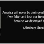 "America, ""We destroyed Ourselves"""