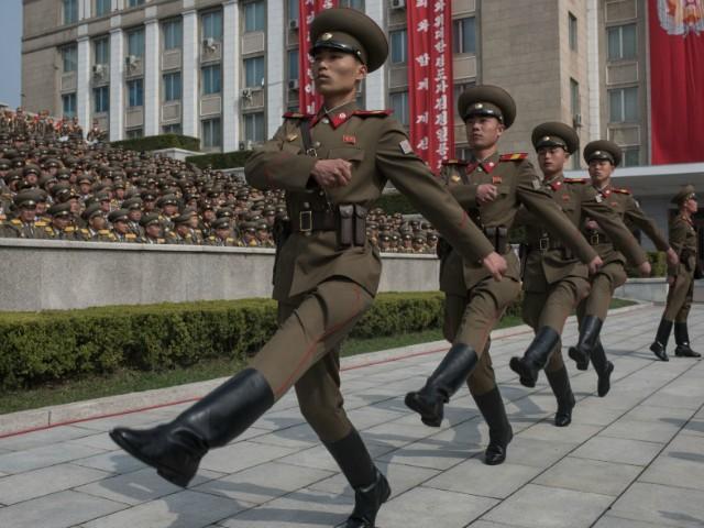 Korean Peoples Army soldiers getty gu4cI8